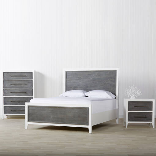 Marina Bay 5 Drawer Chest -Skye Grey