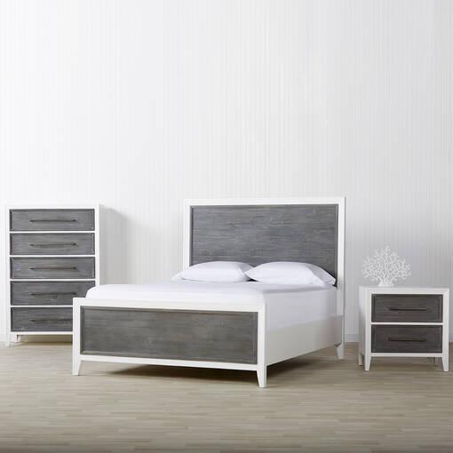 Commode 5 tiroirs Marina Bay -Skye gris