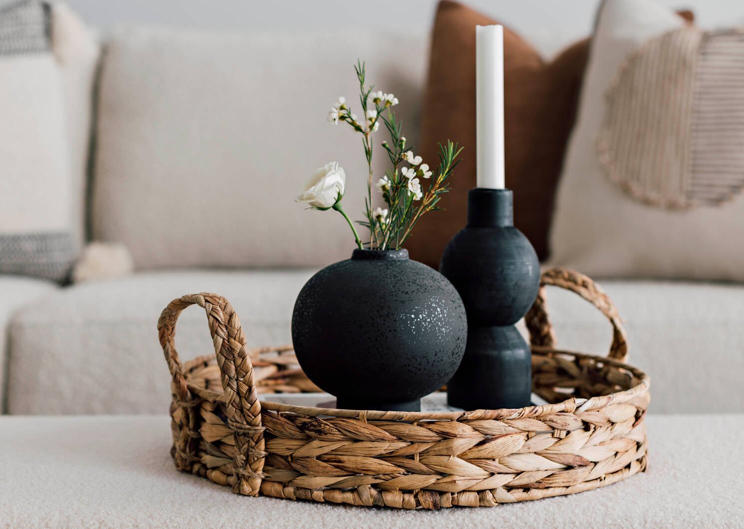 Petit vase Eliana noir