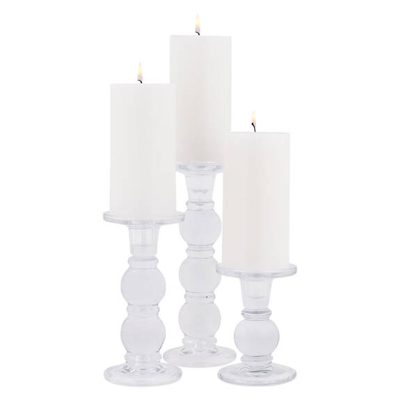 Octavia Candle Holders - Glass