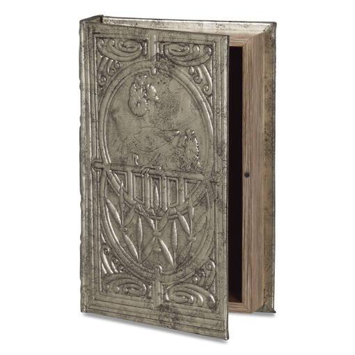 Belle Book Box Medium Pewter