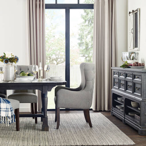 Oakland Host Chair -Nantucket Grey