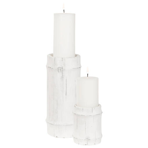 Mesa Candle Holders - White
