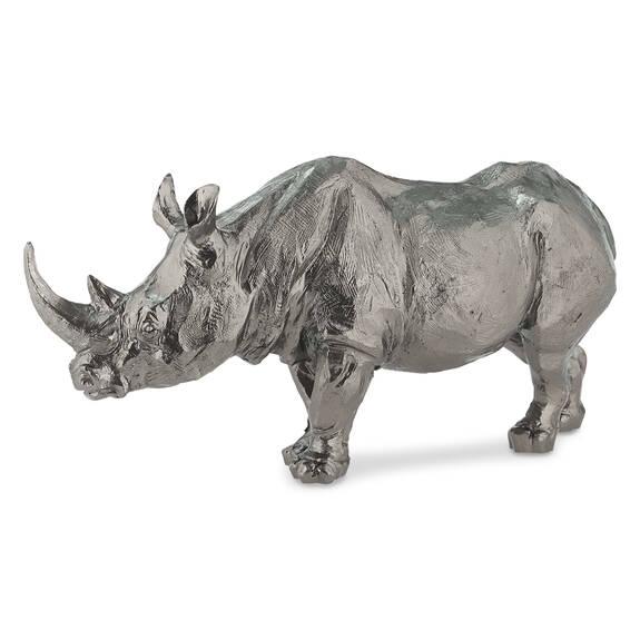 Statuette rhinocéros Meru étain