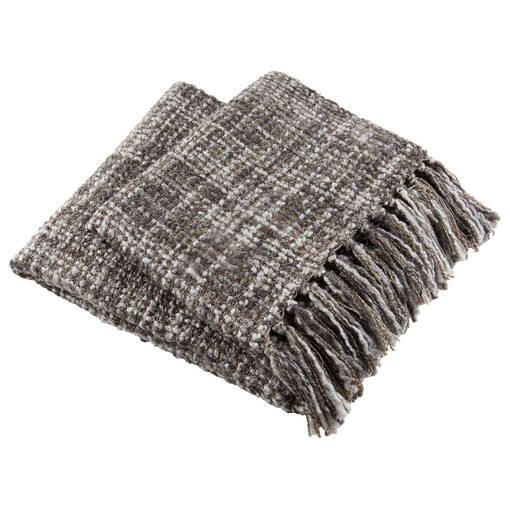 Jeté tricoté Betina acier/caillou