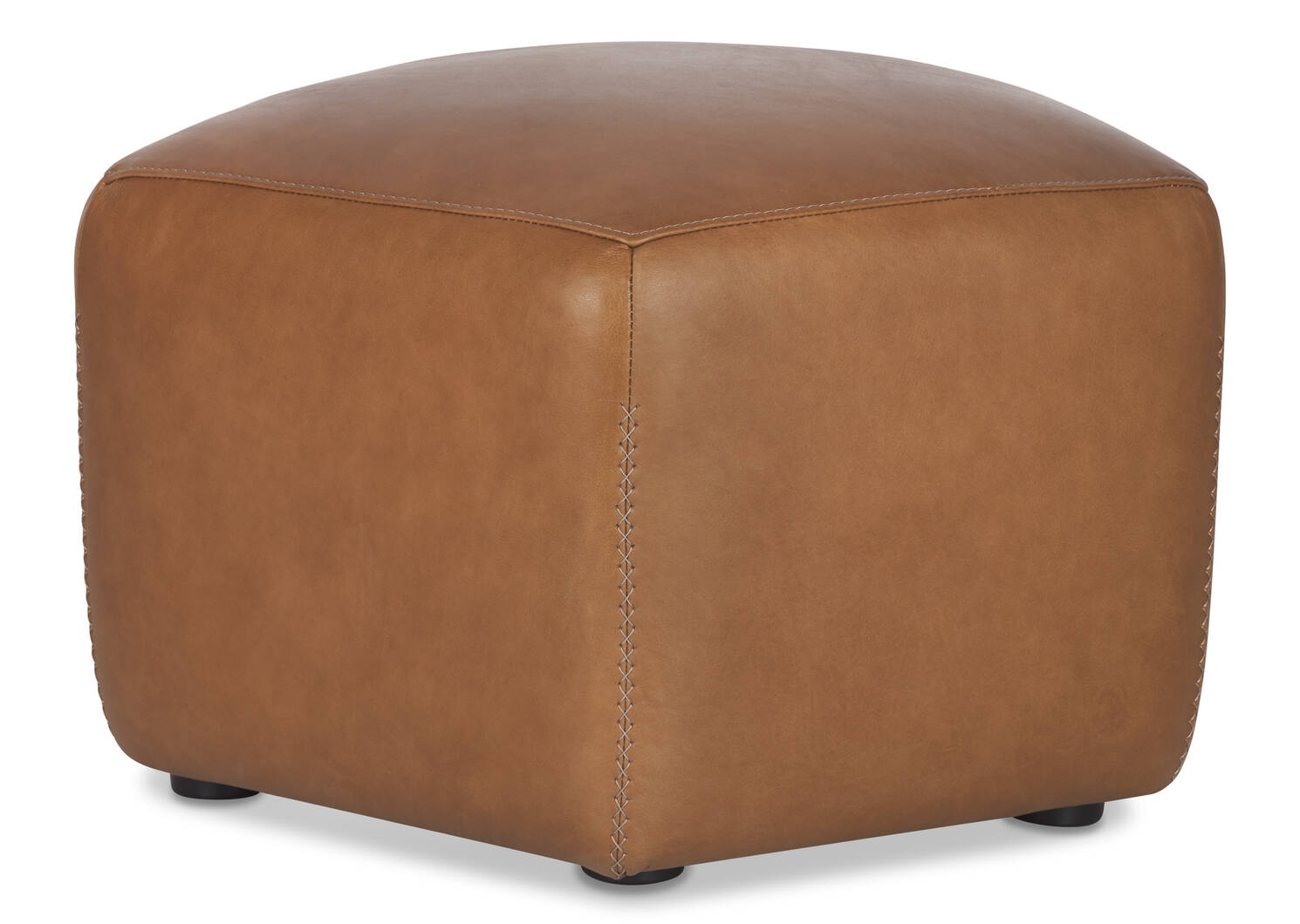 Myers Leather Ottoman -Adler Tan