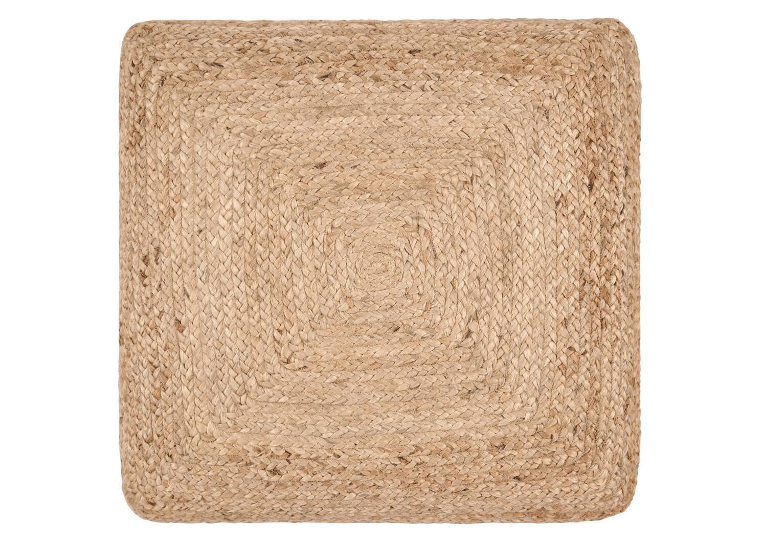 Coussin de sol carré en jute Ramirez nat