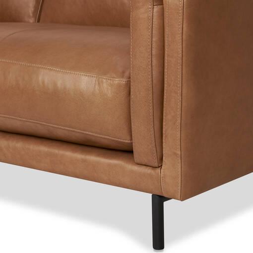 Renfrew Leather Sofa 80 -Adler Tan