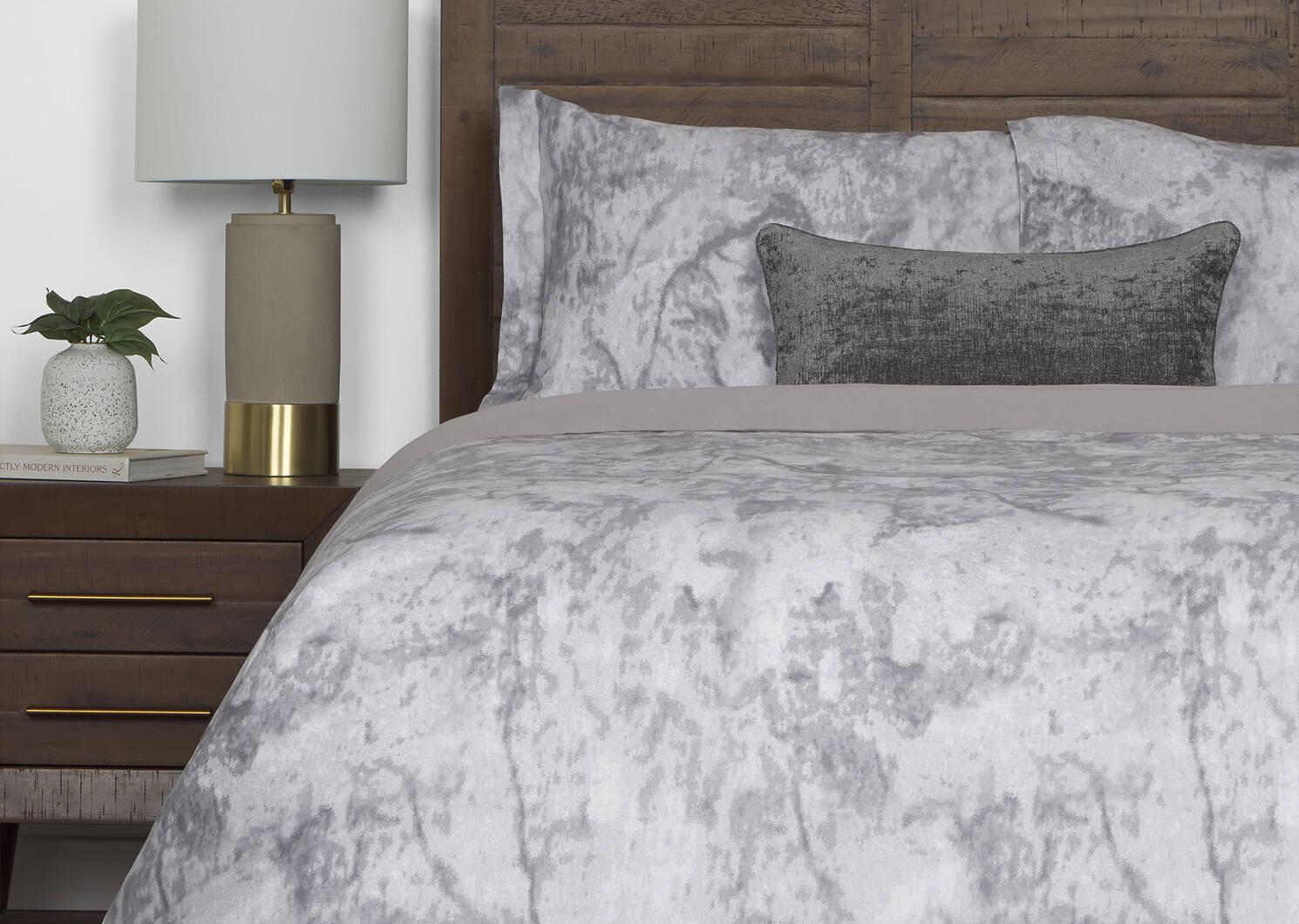 Granite Duvet Set Grey