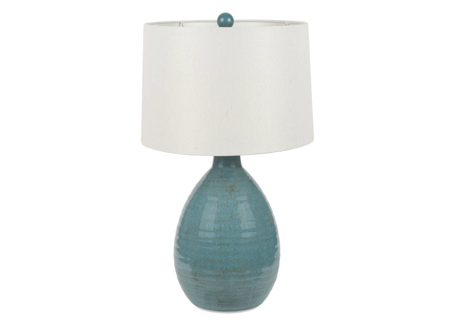 Lampe de table Salma turquoise