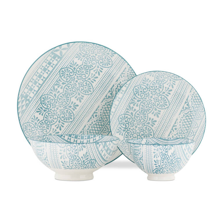 Henna 16 pc Dish Set