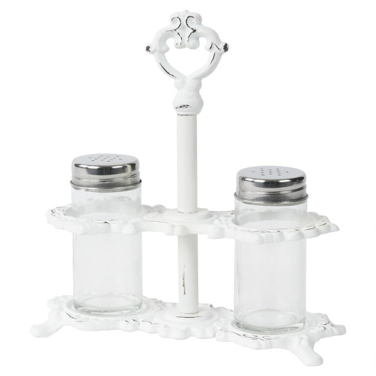 Olivia Salt & Pepper Set White