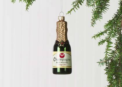 Champagne Bottle Orn