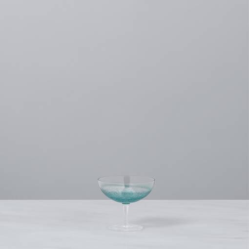 Shimmer Glassware - Aqua