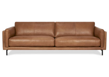 "Renfrew Leather Sofa 94"" -Adler Tan"