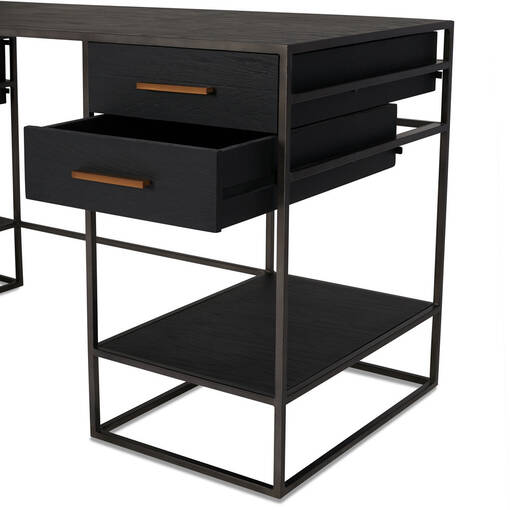 Lenyx Desk -Ebony Oak