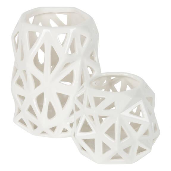 Anais Tealight Holders - White