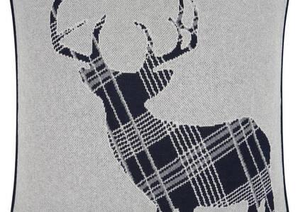 Dasher Reindeer Toss 20x20 Natural/Gr