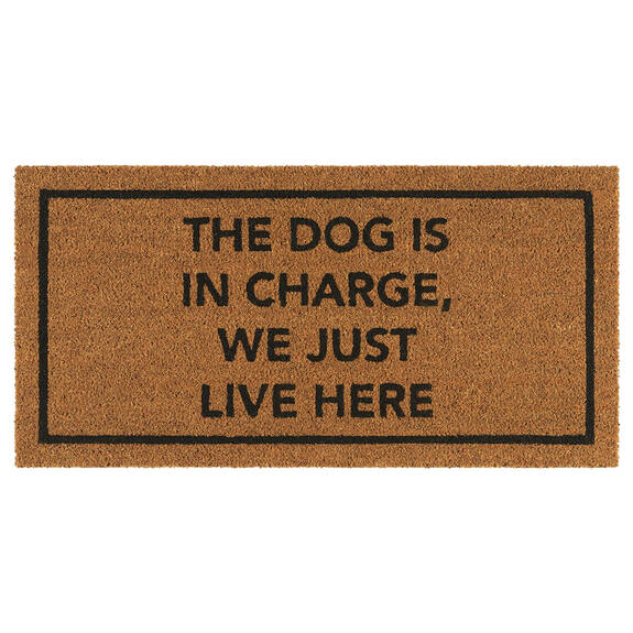 Dog in Charge Doormat Natural