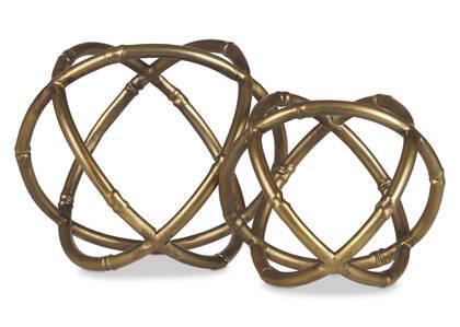 Boules décoratives Minto laiton antique