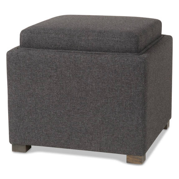 Fay Storage Ottoman -Willa Charcoal