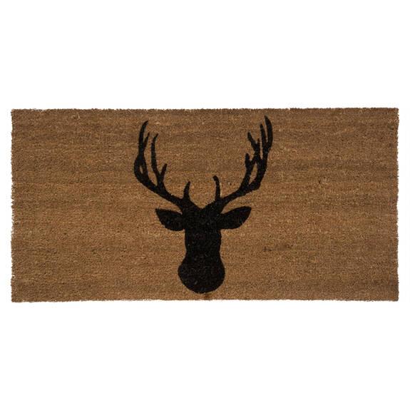 Stag Head Doormat 18x36