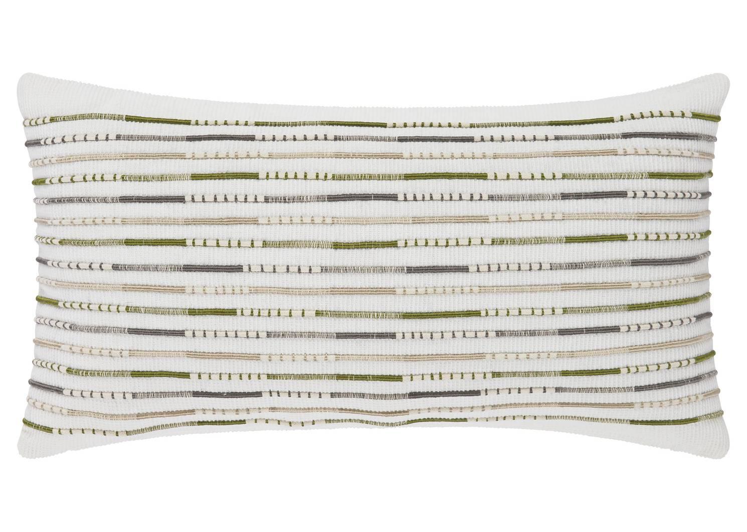 Buena Toss 12x22 Ivory/Green/Grey