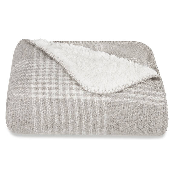 Becca Sherpa Throw Pebble