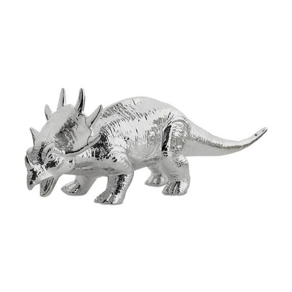 Triceratops Decor Silver