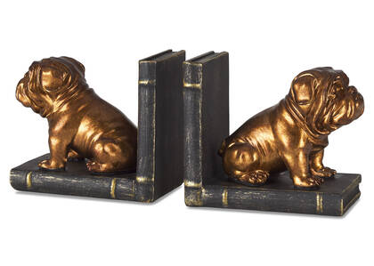 Randle Bulldog Bookend Set