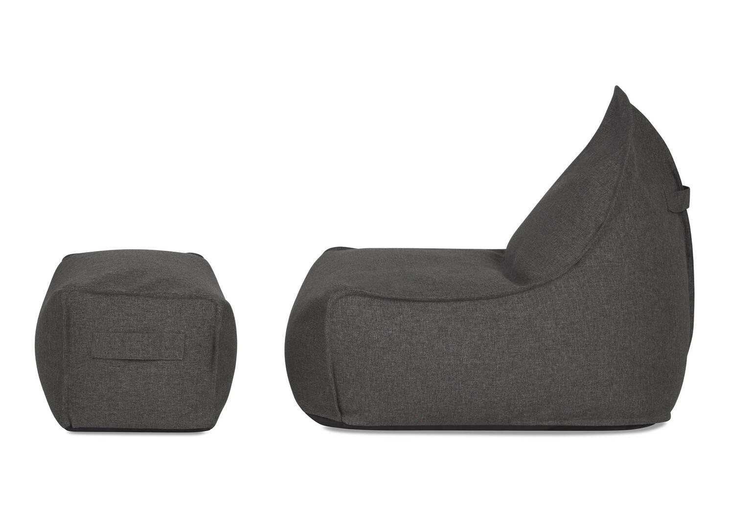 Cabana Chair w/ Ottoman -Kobe Graphite