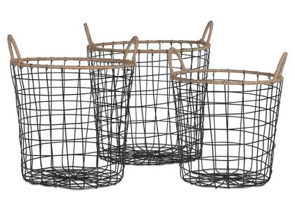 Jackman Wire Basket Natural/Black