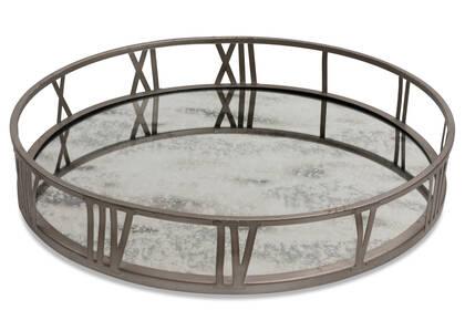 Galena Mirrored Tray Round