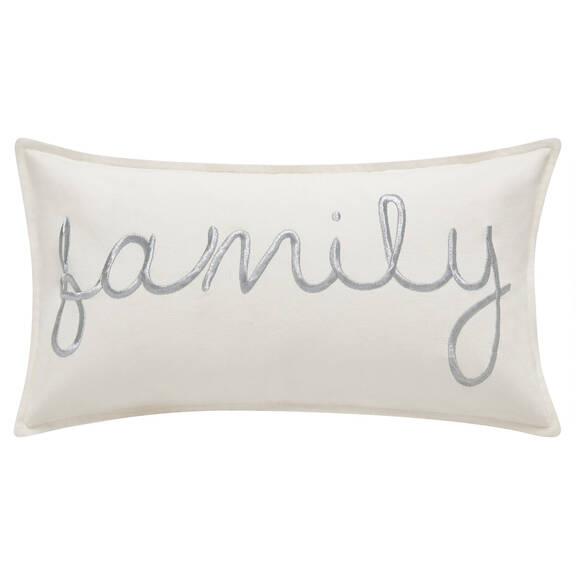 Coussin Family 12x22 blanc
