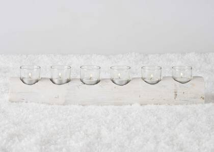 Porte-lumignons Woodlyn blanc