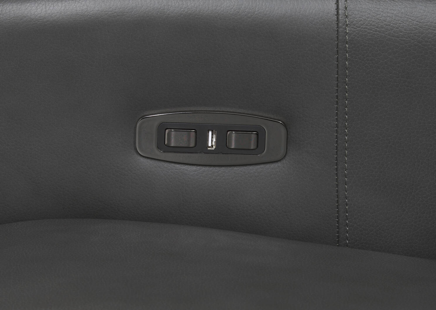 Reese Leather Recliner -Arlo Smoke