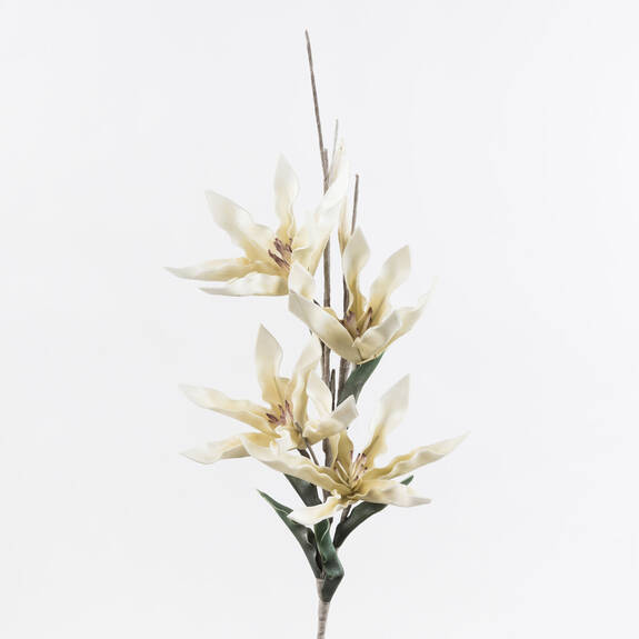 Tige de fleur Sif blanche