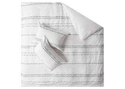 Riley Duvet Sets - White/Midnight