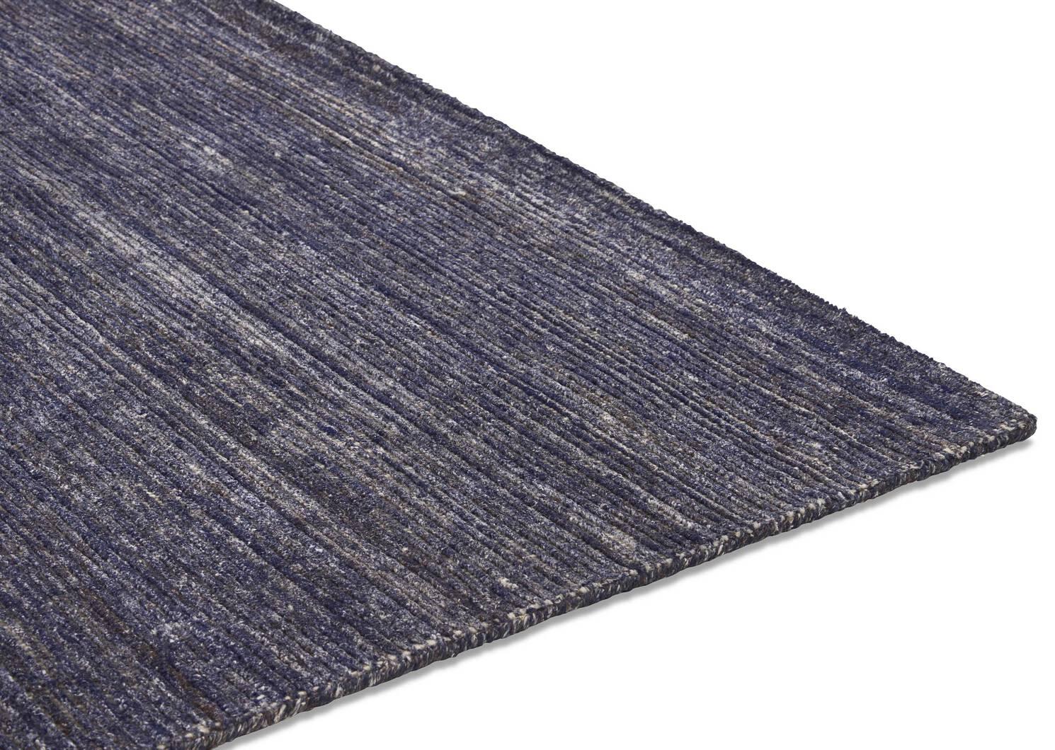 Tapis Bainbridge 96x120 bleu foncé/ivoir