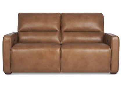 Encore Leather Reclining Sofa -Mira Rum