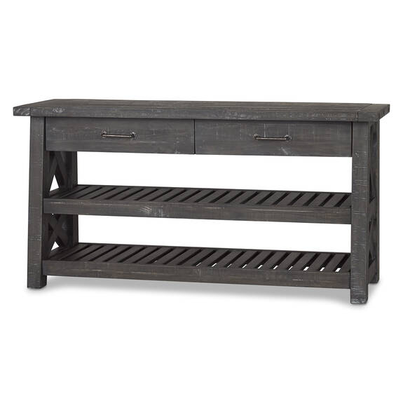 Ironside 2 Drawer Console Table -Smoke