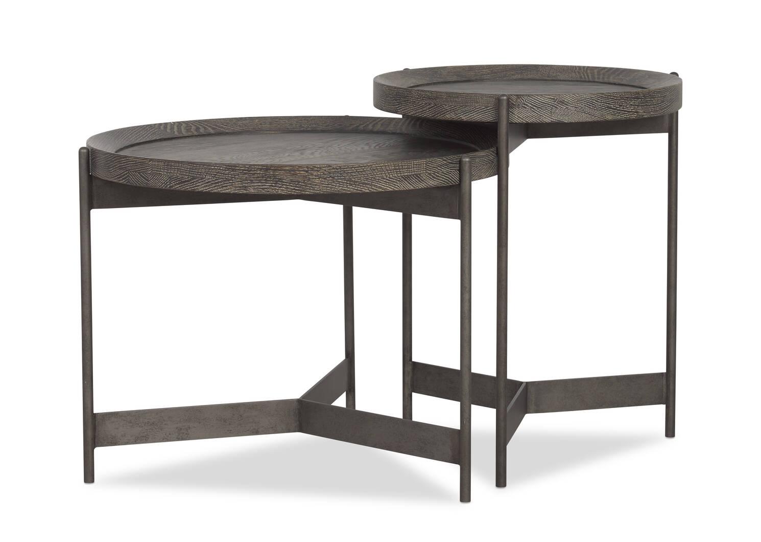 """Edward Side Table 25"""" -Hudson Oak"""