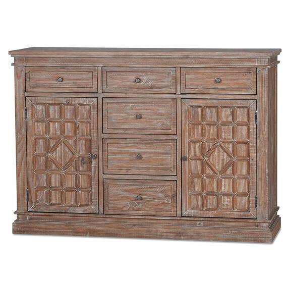 Bureau à 6 tiroirs Samaya -Banu sable