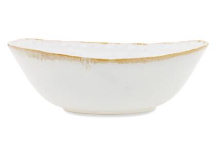 Crofton Glazed Serving Bowl White