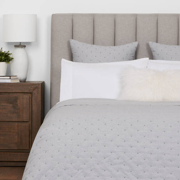 Sadler Bedspread Light Grey