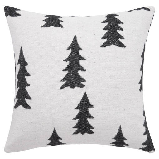 Coussin arbre McDougall 20x20 charb./iv