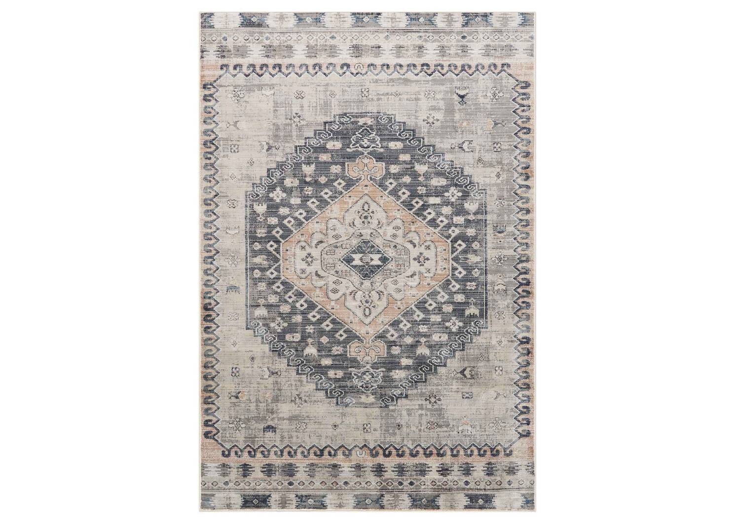 Levy Rug - Blue/Goldfield