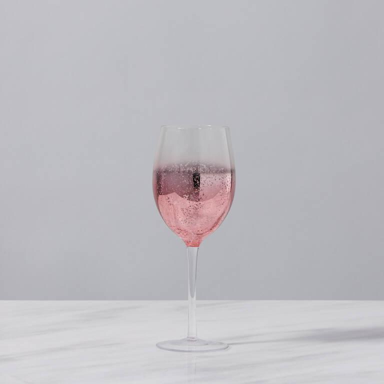 Shimmer Wine Glass Rose Gold