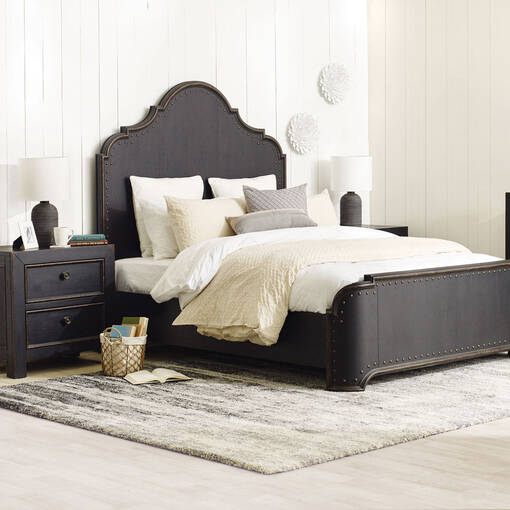 Aberdeen Bed -Baron Black, KING