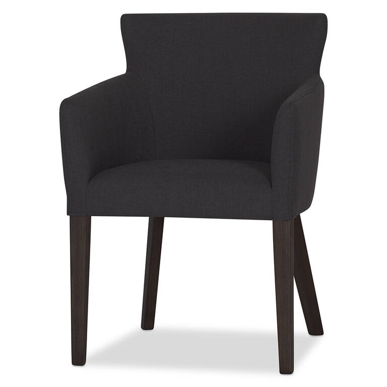 Jenaya Arm Dining Chair -Amos Charcoal